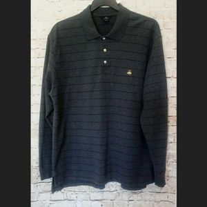 346 Brooks Brothers Long Sleeve Polo Size XL